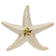 Herend Porcelain Fishnet Figurine of a Miniature Starfish